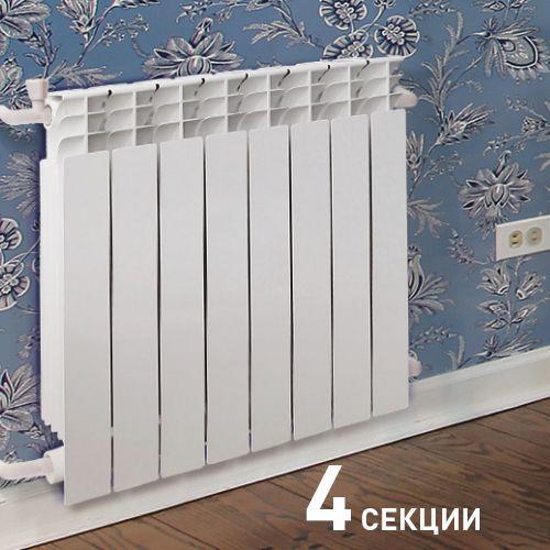 008 Радиатор биметаллический ОАЗИС 500/80/4
