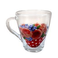 """13с1649 ДЗ Цв чаша: Кружка для чая """"Грация"""" 250мл (Цветочная чаша)"""