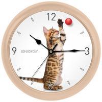 Часы настенные кварцевые ENERGY модель EC-113 кот