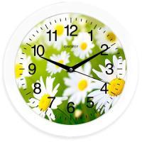 Часы настенные кварцевые ENERGY модель EC-98 ромашки