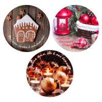 "Доска раз.ст.кругл.D20см ""Christmas"" 3д. NEW, 2.69 (МультиДом)"