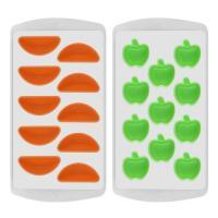 """Форма для льда """"Яблоко-Апельсин"""" силикон 2 цв. 80.155 (МультиДом)"""