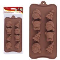 """Форма для шоколадных конфет силиконовая """"Новый год"""". NEW, 2.92 (МультиДом)"""