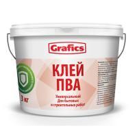 """Клей ПВА строительный """"Grafics"""" 10кг."""