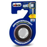 Клейкая лента двухсторонняя для наружных работ 19мм х 1,5м пена UNIBOB ИУ (60) арт.56645