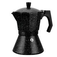 Кофеварка гейзерная 450мл (9 порций) из алюминия с широким индукционным дном (2513MR)