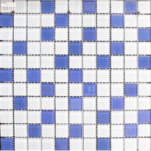 Мозаика СТ121/201 бело-синяя Б00(73%) С03(27%) (300х300)