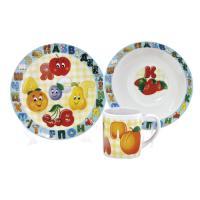 """Набор """"Алфавит"""" 3 предмета (тарелка 19 см, миска 18 см, кружка 240 мл) в под. уп. MFKS04021"""
