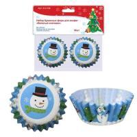 """Набор бумажных форм для конфет """"Веселый снеговик"""" 50шт. D 6см (пакет) NEW, 2.106 (МультиДом)"""