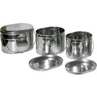 Набор низких котелков 3 шт.(3,5;4,5;6л) без ручек нерж.сталь НКОн-002