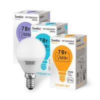 Светодиодная лампа Sweko 42 серия 42LED-G45-7W-230-6500K-E14 (38545)