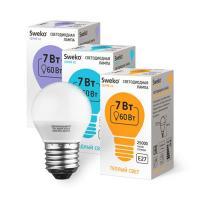 Светодиодная лампа Sweko 42 серия 42LED-G45-7W-230-6500K-E27 (38547)
