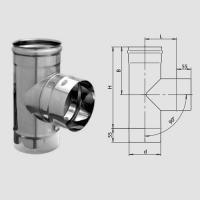 Тройник-Д 90 гр. (430/0,5мм) D80 арт. fm12.80.1.F